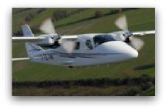 Tecnam P2006T in flight